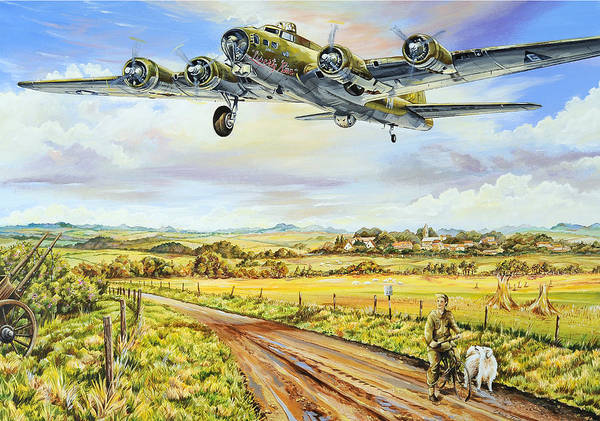 Bomber Painting - Liberty Run by Charles Taylor