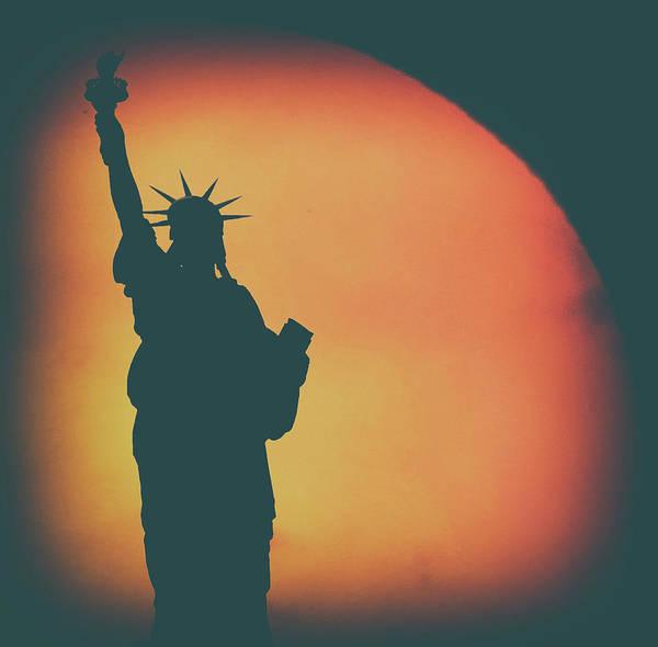 Lady Liberty Photograph - Liberty Sunset by Martin Newman