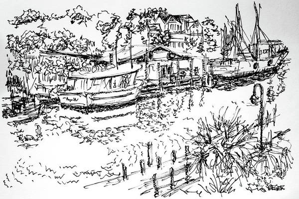 South Beach Drawing - Life On The Water  by Robert Yaeger