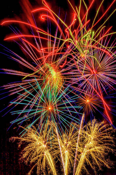 Fireworks Display Wall Art - Photograph - Light Up The Night by Garry Gay