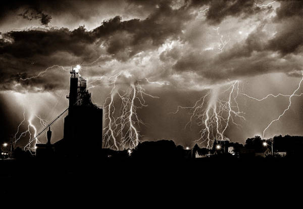 Photograph - Lightening Strike by David Matthews