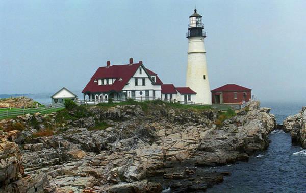 Photograph - Lighthouse - Portland Head Maine 4 by Frank Romeo