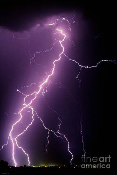 Photograph - Lightning by Kent Wood