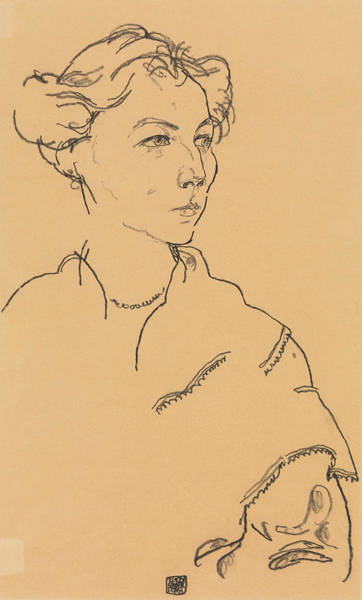 Drawing - Lilly Steiner by Egon Schiele
