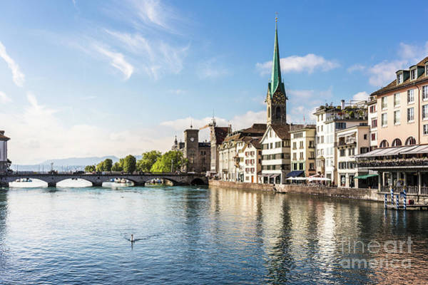 Photograph - Limmat River In Zurich by Didier Marti