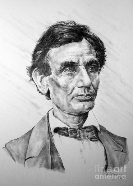 Abe Lincoln Drawing - Lincoln by Roy Anthony Kaelin