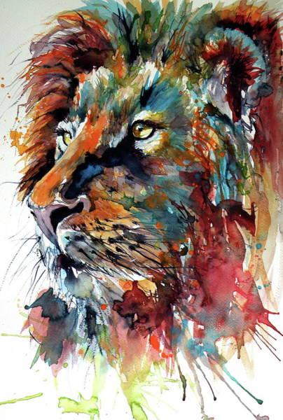 Wall Art - Painting - Lion by Kovacs Anna Brigitta