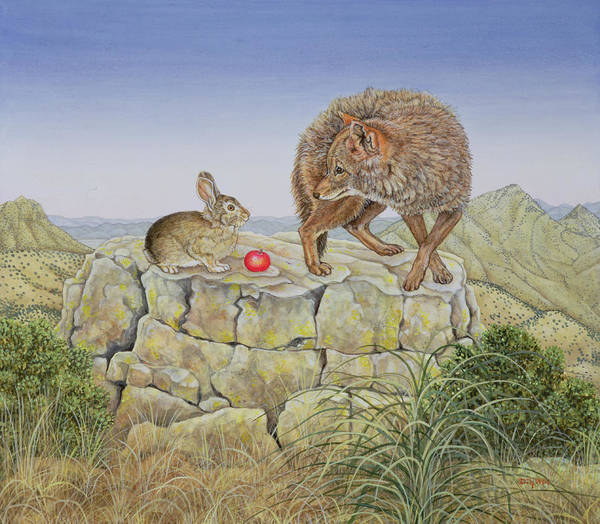 Wild Rabbit Painting - Lion's Hotel by Ditz
