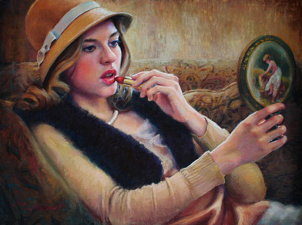 Painting - Lipstick by Jean Hildebrant