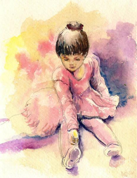 Painting - Little Ballerina by Asha Sudhaker Shenoy