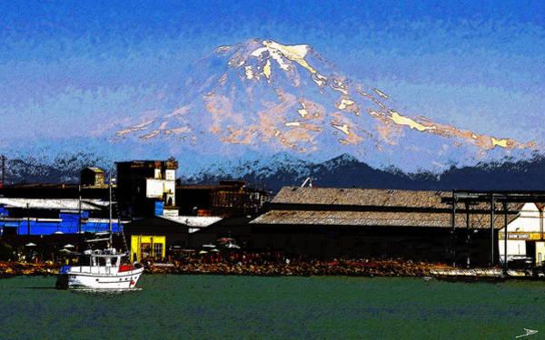 Mount Rainier Painting - Little Boat by David Lee Thompson