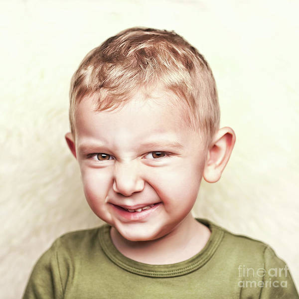 Little Child Portrait Art Print by Gualtiero Boffi