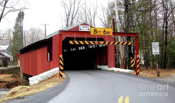 Photograph - Little Gap Covered Bridge by Ken Keener