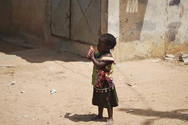 Dakar Photograph - Little Girl by Kamel Rekouane