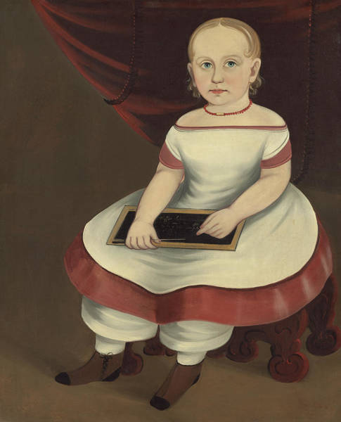 Painting - Little Girl With Slate by Prior Hamblin School