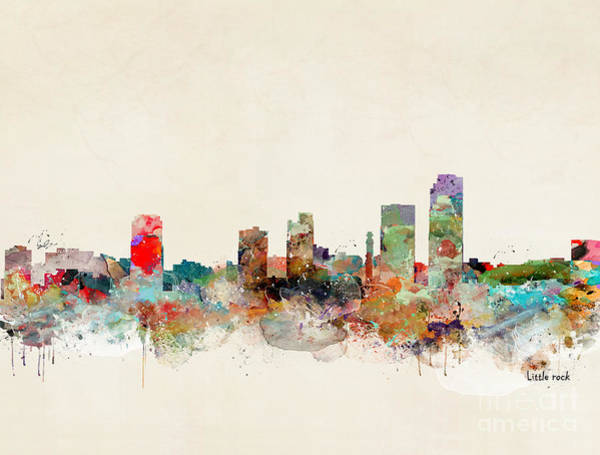 Arkansas Wall Art - Painting - Little Rock Arkansas by Bri Buckley