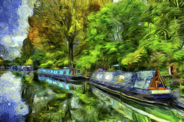 Wall Art - Photograph - Little Venice London Van Gogh by David Pyatt