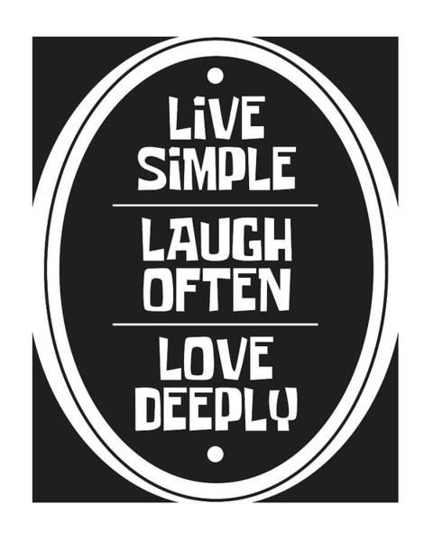 Motivation Mixed Media - Live Love Laugh by Studio Grafiikka