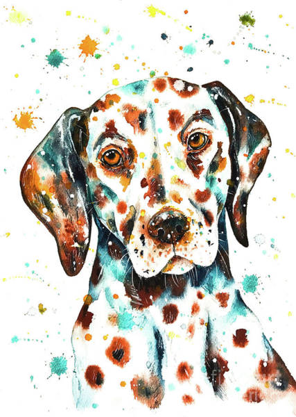 Liver Painting - Liver-spotted Dalmatian by Zaira Dzhaubaeva