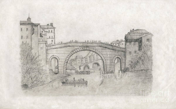 Liverpool Bridge Art Print