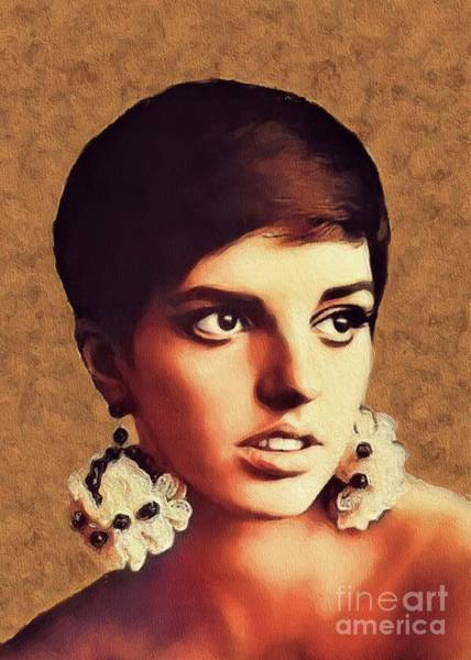 Wall Art - Painting - Liza Minnelli, Vintage Movie Star by John Springfield