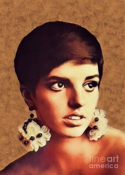 Wall Art - Painting - Liza Minnelli, Vintage Movie Star by John Springfield