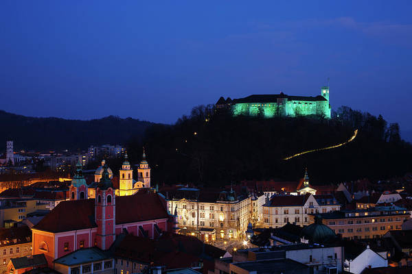 Ljubljana Wall Art - Photograph - Ljubljana Castle by Ian Middleton