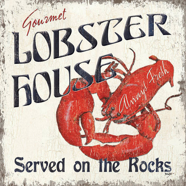 Delicious Wall Art - Painting - Lobster House by Debbie DeWitt