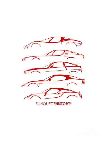Montreal Digital Art - Lombard Sports Car Silhouettehistory by Gabor Vida