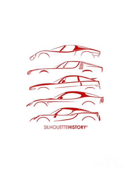 Wall Art - Digital Art - Lombard Sports Car Silhouettehistory by Gabor Vida