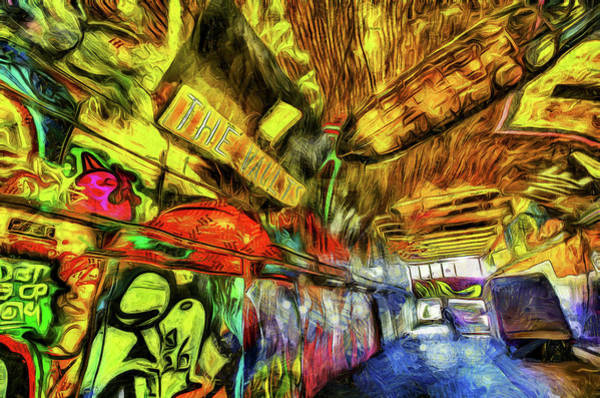 Wall Art - Photograph - London Graffiti Van Gogh by David Pyatt