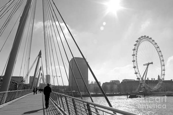 Photograph - On The Jubilee Bridge London Uk by Julia Gavin