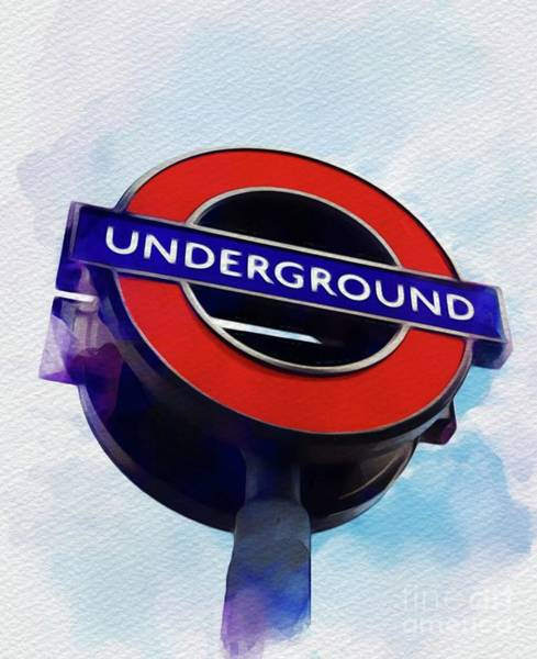 Rail Painting - London Underground by John Springfield