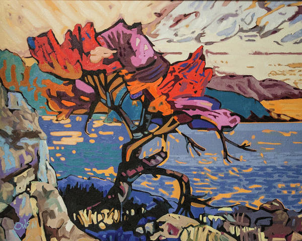 Painting - Lonetree, Sunrise by Rob Owen