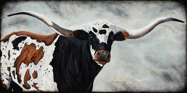Longhorn Painting - Longhorn by Dede Koll