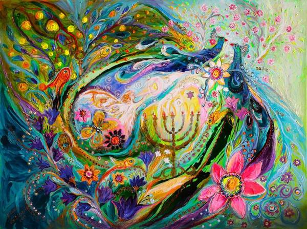 Kabbalistic Wall Art - Painting - Longing For Chagall by Elena Kotliarker