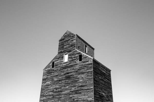 Photograph - Looking At An Old Grain Elevator by Todd Klassy