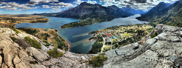 Photograph - Looking Down On Waterton Lakes by Adam Jewell