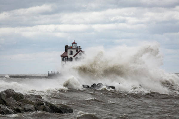 Photograph - Lorain Ligthouse by Jack R Perry