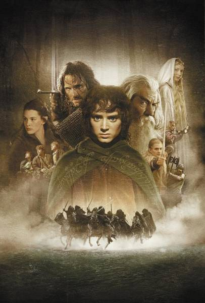 Wall Art - Digital Art - Lord Of The Rings The Fellowship Of The Ring 2001  by Geek N Rock