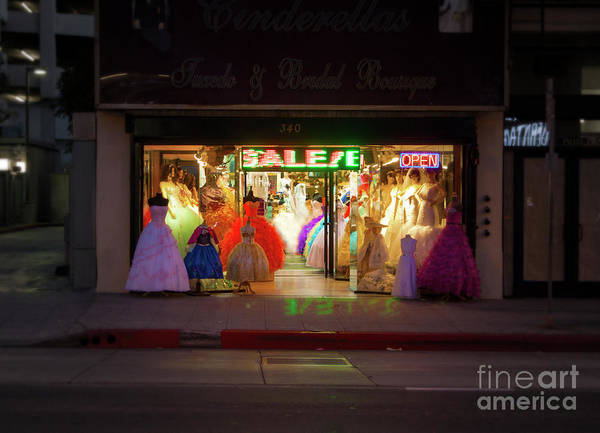 Photograph - Los Angeles Broadway At Night by Gregory Dyer