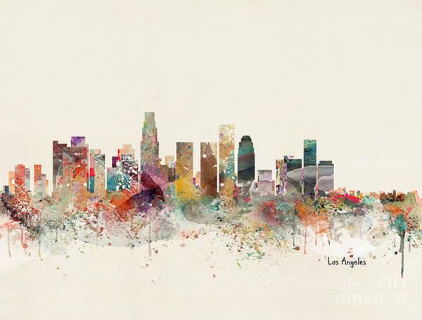 Los Angeles Painting - Los Angeles California by Bri Buckley
