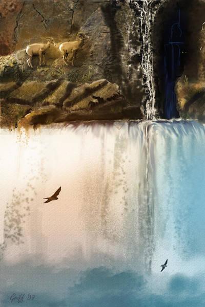 Colorado Wildlife Digital Art - Lost River by J Griff Griffin
