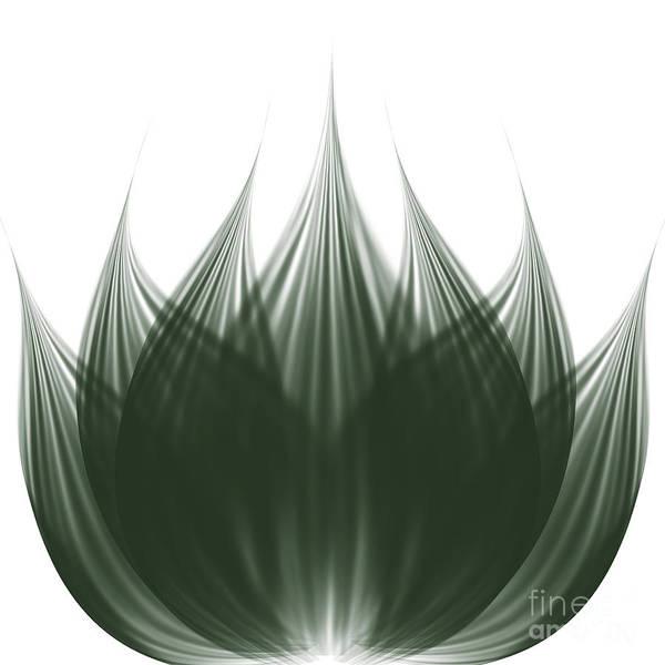 Water Plant Digital Art - Lotus Flower by Atiketta Sangasaeng