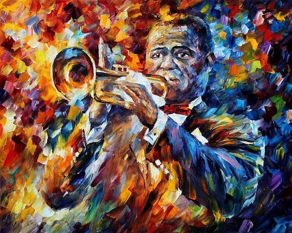 Leonid Wall Art - Painting - Louis Armstrong by Leonid Afremov