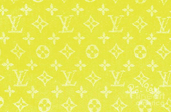 Wall Art - Digital Art - Louis Vuitton In Yellow Monogram by To-Tam Gerwe