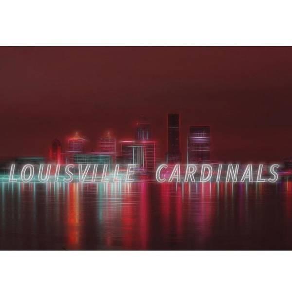 Baseball Wall Art - Photograph - #louisville #cardinals by David Haskett II