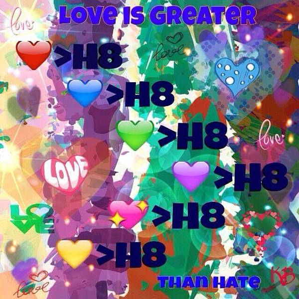 Digital Art - Love Is Greater Than Hate  by Karen Buford