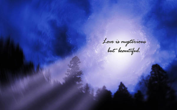 Wall Art - Photograph - Love Is Mysterious But Beautiful. by Celestial  Blue