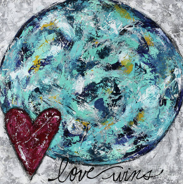 Wall Art - Painting - Love Wins by Kirsten Reed
